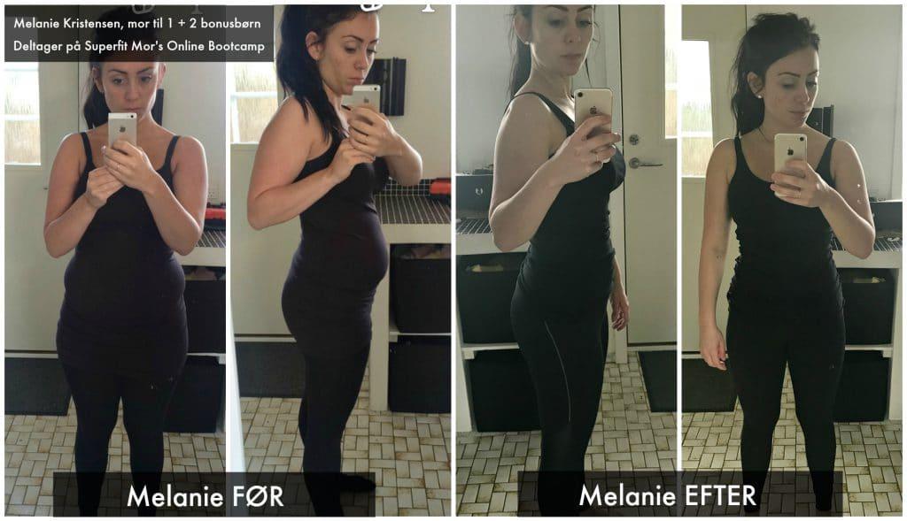 Kvinde der er kommet i form og fået vægttab efter træning med Superfit Mor's online Bootcamp
