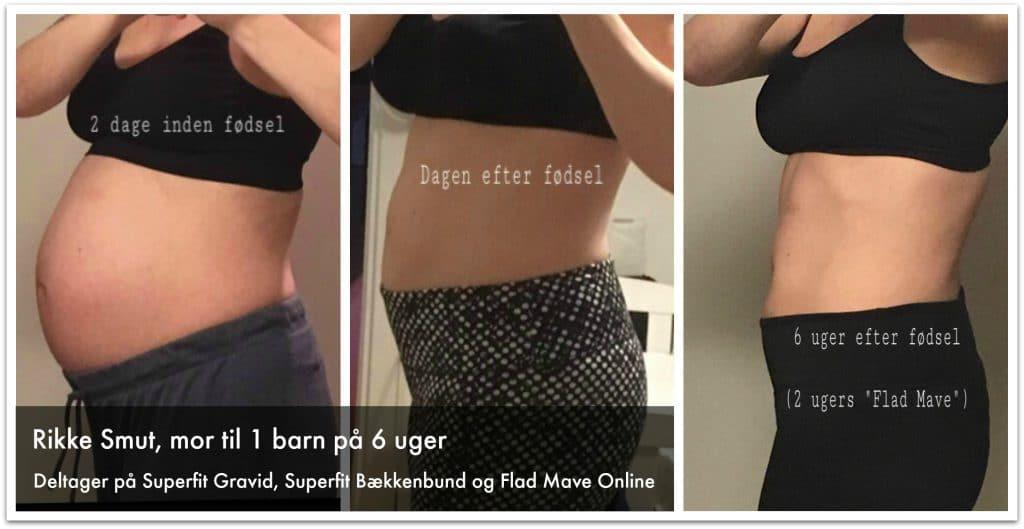 Kvinde der har trænet med alle Superfit Mor's online programmer under graviditet og efter fødslen