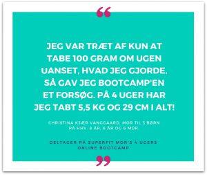 Kvinde fortæller om flote resultater med Superfit Mor's Online Bootcamp