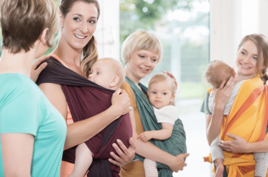 Mødre og børn glade sammen