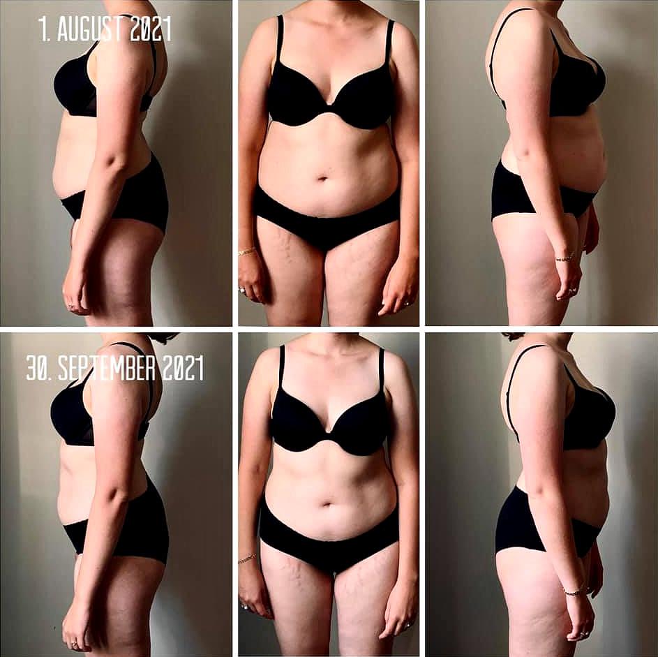 Delatger på Superfit Mor's Flad Mave Online viser sit flotte resultat med maveprogrammet.